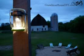 mason jar solar lights for our back deck grandmas house diy