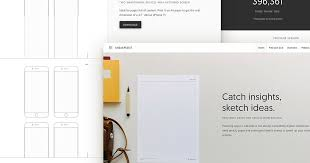 sneakpeekit printable sketch sheets for design wireframing