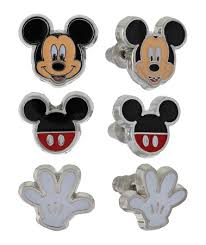 mickey mouse earrings earrings set mickey mouse set of 3