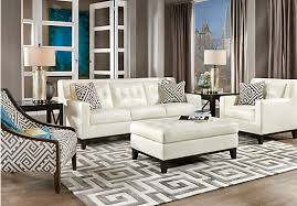 Amazing Chic White Leather Living Room Sets Ideas Leather Living - White leather sofa design ideas