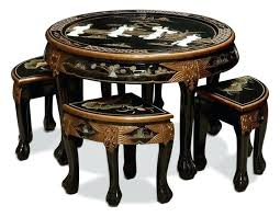 round coffee table with 4 stools cocktail table with stool womenforwik org