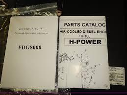 falcon industrial 8000es diesel generator item bd9959 so