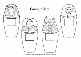 egypt map coloring page canopic jars colouring page
