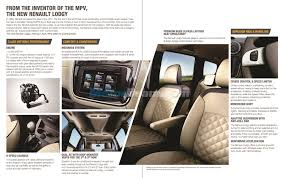 renault lodgy interior renault lodgy features revealed india brochure inside