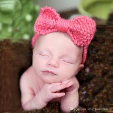newborn hair bows mix lovely baby bow headbands boutiques kids wool knitted hair