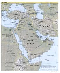 middle east map water bodies nga middle east index