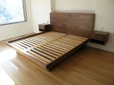 King Size Bed Platform Custom Made King Size Platform Bed Projects To Try Pinterest