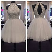 ivory open back short homecoming dresses for teens simple cheap