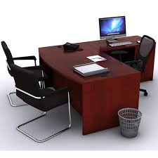 L Shaped Office Desk With Hutch Techno Executive L Shaped Office Desk Rudnick Discounted Modern