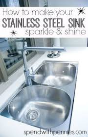 How To Shine A Stainless Steel Sink Cleaning My Entire House With - Kitchen sink cleaner