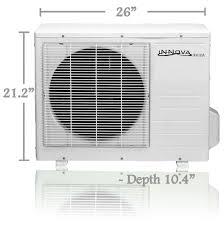 innova inc products 9 000 btu innova ductless mini split air