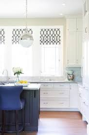 Roman Shades Black - black and white trellis roman shades transitional kitchen