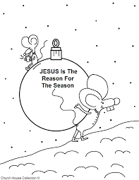 jesus is the reason for the season coloring page