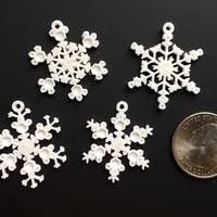 3d printed tiny snowflake ornaments from the snowflake machine