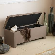 Leather Storage Ottoman Bench Making Leather Storage Ottoman Bench Home Inspirations Design For