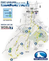 Marathon Route Map by Half Marathon Course Map Foot Levelers Blue Ridge Marathon