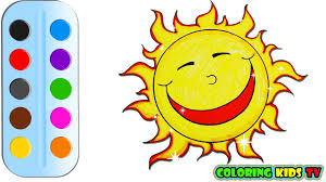 coloring pages the sun for kids u0026 drawing for children how to