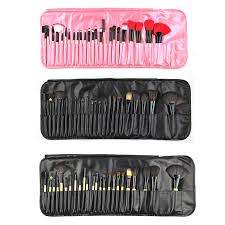 24 pcs sof synthetic hair makeup brushes set high quality professional makeup brushes synthetic powder brush with leather pouch