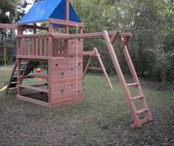 Diy Backyard Swing Set How To Build Diy Wood Fort And Swing Set Plans From Jack U0027s