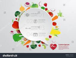 modern business bubble speech template fruits stock vector
