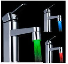 bathroom faucet with led light 3 color sensor led light water faucet tap temperature for kitchen