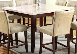 bar height table base with foot ring acme britney square white marble top counter height table in pub