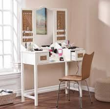 unique desk furniture cool makeup vanity set featuring mirrored desk with
