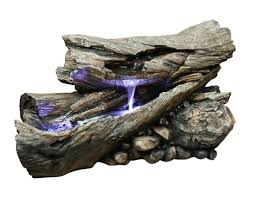 alpine fiberglass rain forest fountain with led light u0026 reviews