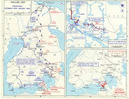 Map Of Europe 1939 by Map Of Russo Finnish War 1939 1940