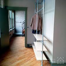 diy modern coat rack with floating shelves simplified building