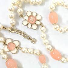 brand new pearl necklace images Lyst chanel 2018ss flower coco mark fake pearl necklace rose jpeg
