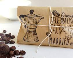 coffee wedding favors coffee wedding favors set of 50 freshly roasted coffee favors