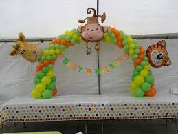 Safari baby shower decoration animals