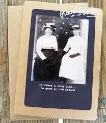 funny friendship birthday greeting card vintage photo it