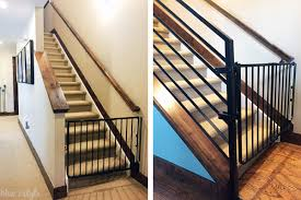 Best Stair Gate For Banisters Diy With Style How To Child Proof Horizontal Railings Blue I Style