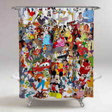 Micky Mouse Curtains by Disney Mickey Mouse All Character Mash Up Custom Shower Curtain