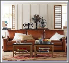 Pottery Barn Leather Couch Pottery Barn Leather Sofa Look Alike Sofa Home Furniture Ideas