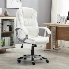 White Chair Desk by Amazon Com Bellezza Ergonomic Office Pu Leather Chair Executive