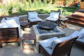 fire pit wood deck awesome patio furniture images with rustic wood set