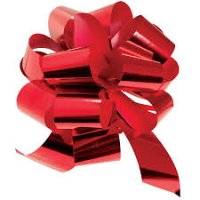 shrink wrap bags with pull bows metallic pull bows