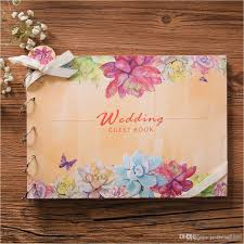 vintage wedding guest book vintage wedding guest book flower marriage book for signature