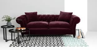 Chesterfield Sofas by Bardot 3 Seater Chesterfield Sofa Merlot Velvet Made Com