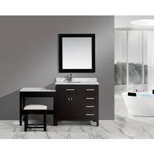 Espresso Vanity Table Design Element London Single Sink Espresso Vanity Set With Makeup