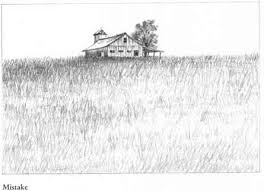 barns grass rocks and water drawing nature joshua nava arts