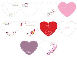 wedding program fan kits heart shaped wedding program fan kit