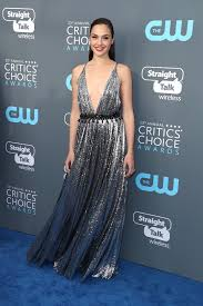 dress gal gal gadot s dress at critics choice awards she slays in silver