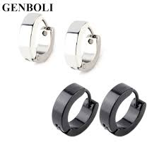 cool earrings for men aliexpress buy chic 1pair cool men s stainless steel