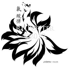 kitsune tribal by emeraldraindragon on deviantart