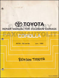 1993 1998 toyota corolla body collision manual original