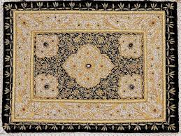 Wall Rugs Hanging Kashmir Zardozi Jewel Carpet Rug Handmade Traditional Decorative